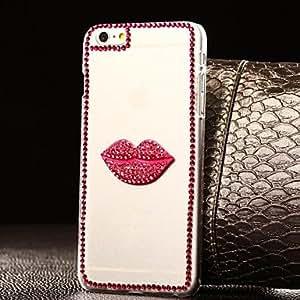 GX labios bricolaje con patrón de imitación de plástico duro para el iPhone 6 más