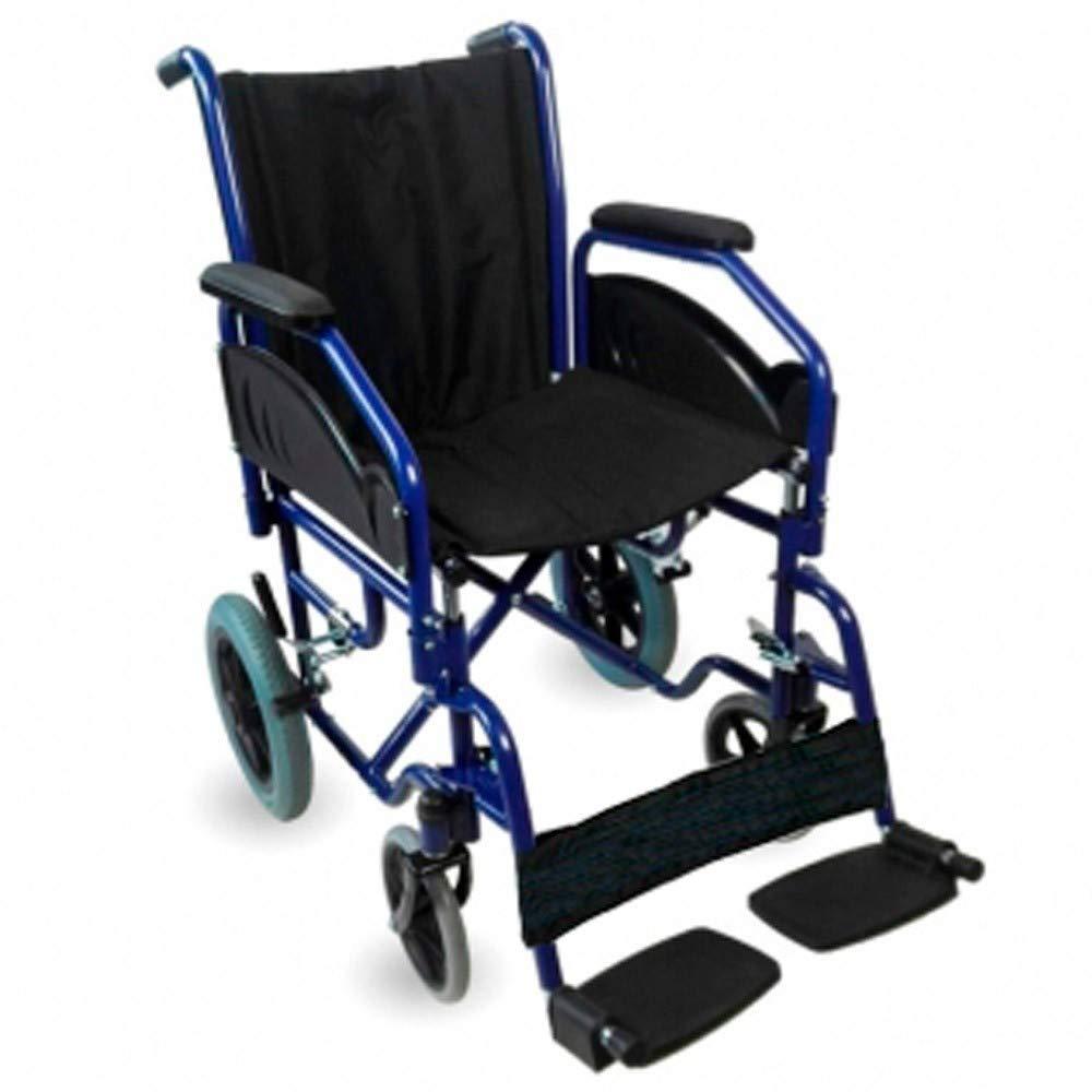 Mobiclinic, Modelo Maestranza, Silla de ruedas ortopédica, plegable, para minusválidos, de aluminio, freno en manetas, reposapiés y reposabrazos ...