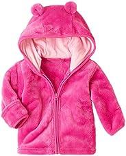 XWDA Baby Boys Girls' Micro Fleece Jacket Lined Hoodies Kids Warm Solid Zipper Up