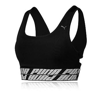 PUMA Delite Bra M Sujetador Deportivo Mujer, Black, XS