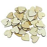 150PCS Fyess 4CM Wooden Blank Love Hearts Crafts