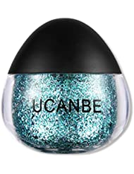 UCANBE Cream Glitter Gel for Body and Face, 0.63 fl. Oz (glaucous)