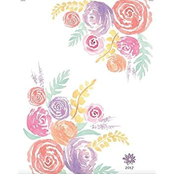 """bloom daily planners 2017 Calendar Year Daily Planner - Passion/Goal Organizer - Fashion Agenda - Weekly Diary - Monthly Datebook Calendar - Jan 2017 to Dec 2017 - 6"""" x 8.25"""" - Watercolor Flowers"""