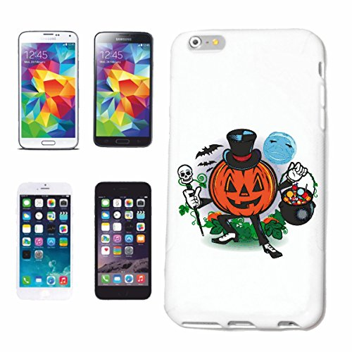 """cas de téléphone iPhone 6S """"CITROUILLE HALLOWEEN HALLOWEEN PUMPKIN Octobre Walpurgisnacht FRÖHLICH SAD GOTHIC"""" Hard Case Cover Téléphone Covers Smart Cover pour Apple iPhone en blanc"""