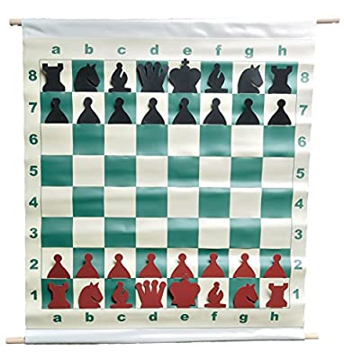 "28"" Slotted-Style Vinyl Demo Chess Set with Deluxe Carrying Bag - by US Chess Federation"