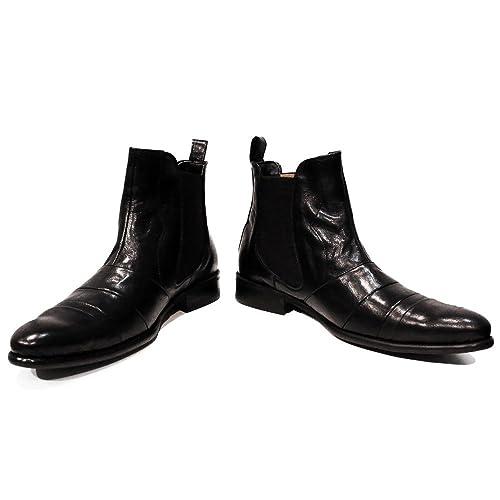 3745bef1c9 Modello Bando - Cuero Italiano Hecho A Mano Hombre Piel Color Negro Chelsea  Botas Botines - Cuero Cuero Suave - Ponerse  Amazon.es  Zapatos y  complementos