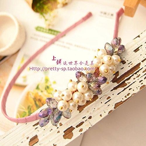 (custom hand-made crystal beaded hair bands headband hairpin lady head flower hair accessories 600)