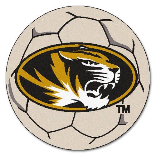 FANMATS NCAA University of Missouri Tigers Nylon Face Soccer Ball Rug
