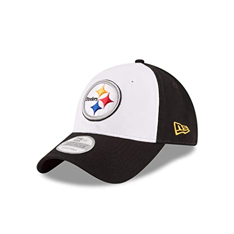 Amazon.com   New Era Pittsburgh Steelers White Front Core Shore ... c2f9ad0d4