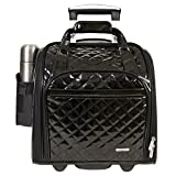 Travelon Luggage Wheeled Underseat Carry-On With Back-Up Bag In Quilted Patent Pvc Material