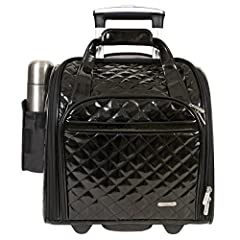 Put a little style and fun in your carry-on with this patent PVC Wheeled Under seat Carry-on. It includes a coordinating tote that folds to store in a side pocket. Use to carry souvenirs home or whenever you need a little more space. This car...