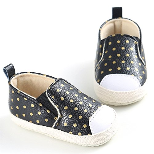 Zapato de Primer Paso Luerme Sandalias de Bebé Diseño Elegante Zapato para Primavera Negro