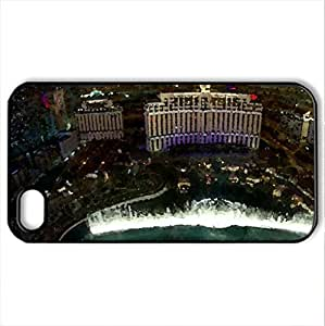 Las Vegas- USA - Case Cover for iPhone 4 and 4s (Watercolor style, Black)