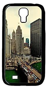 Cool Painting Samsung Galaxy I9500 Cases & Covers -Illinois Sky Buildings Custom PC Hard Case Cover for Samsung Galaxy S4/I9500