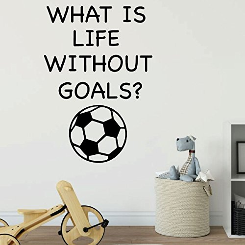 Children's Wall Decal - What is Life Without Goals - Vinyl Decorations for Boys or Girl's Bedroom, Playroom or Nursery Decor