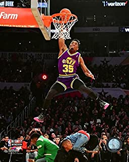 Donovan Mitchell Slam Dunk Contest 2018 NBA All-Star Game Action Photo (Size: