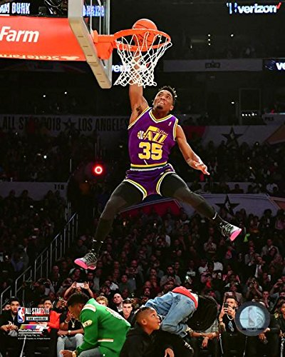 Donovan Mitchell Slam Dunk Contest 2018 NBA All-Star Game Action Photo (Size: 16
