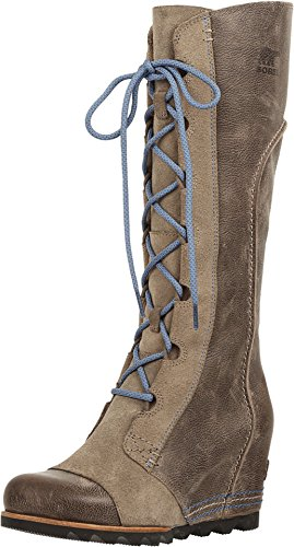 Image of Sorel Cate The Great Wedge Boot - Women's Pebble / Atmosphere 7.5