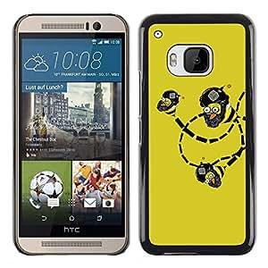 CASEX Cases / HTC One M9 / Funny Lol Troll Bee Bombs Wtf # / Delgado Negro Plástico caso cubierta Shell Armor Funda Case Cover Slim Armor Defender