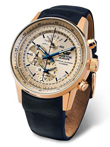 Vostok Europe YM86-565B290 Limousine Alltimer with Trigalights Watch