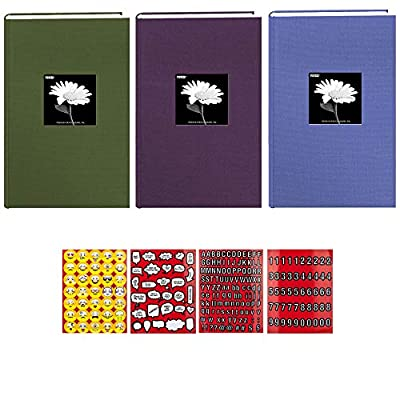 "Pioneer Photo Album 4""X6"", 3-Up, 300 Photos Fabric Frame Bi-Directional Memo Albums Bundle"
