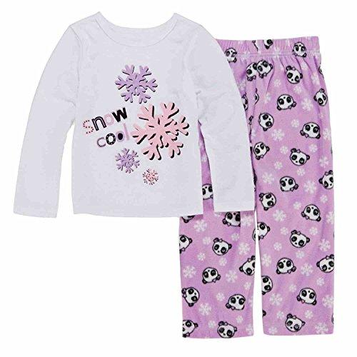 Toddler Girls Snow Cool Pajama 2 Piece Panda Bear Sleep Set 2T