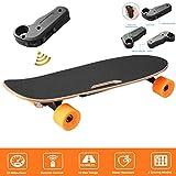 loukou Electric Skateboard Longboard E Board, Battery Electricity Powered Skateboard Automatic Motorized Longboard with Remote Controller