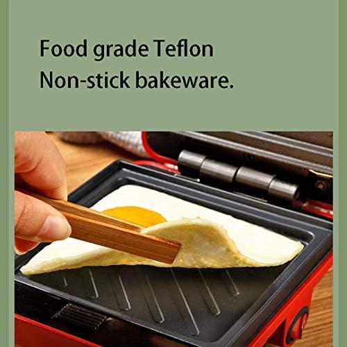 L.TSN Sandwichmaker, multifunctionele machine voor lichte levensmiddelen voor vier personen, anti-aanbaklaag | gemakkelijk te reinigen | 600W