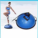 Yoga Ball Balance Trainer Yoga Fitness Strength Exercise Workout w/Pump Blue, Rose (Blue)
