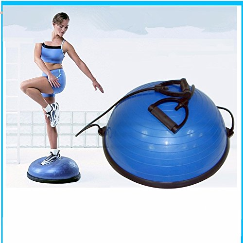 Yoga Ball Balance Trainer Yoga Fitness Strength Exercise Workout w/Pump Blue, Rose (Blue) by Unknown