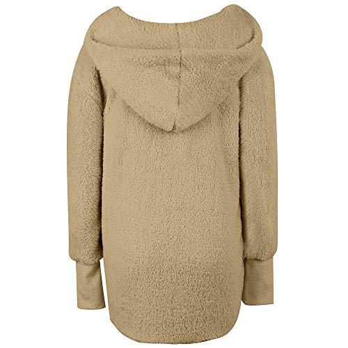 Sueltos Ashop Abrigo Mujer Para Tops Chaquetas Señoras Invierno Amarillo Ropa Mujer Capucha Sin De q7wqgrB