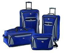 American Tourister Fieldbrook II 4 Piece Set Boarding Bag, Blue/Grey, One Size