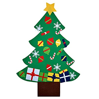 Felt Christmas Tree,Outgeek 3.2ft DIY Christmas Tree with 28 Pcs Ornaments Wall Decor with Hanging Rope for Kids Xmas Gifts Home Door Decoration by Outgeek