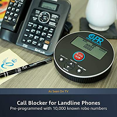 Image of CPR V10000 Call Blocker for Landline Phones. Dual Mode Protection. Pre-Loaded with 10,000 Known Robocall Scam Numbers - Block A Further 2,000 Numbers at A Touch of A Button Caller ID Displays