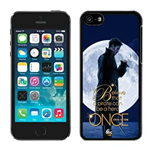 Unique And Antiskid Designed Cover Case For iPhone 5C With Once Upon a Time Black Phone Case