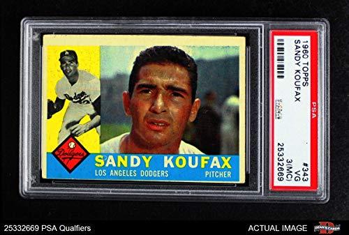 1960 Topps # 343 Sandy Koufax Los Angeles Dodgers (Baseball Card) PSA 2 - GOOD Dodgers