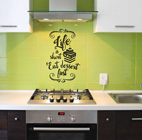Vinyl Removable Life is Short Words Quotes Art Wall Stickers - 5