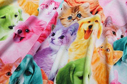 Cat 3 Dog Fall Jxstar Floral Desss Long Sleeve Girls Print Kid Cat Animal Years 13 qnfOBXnw