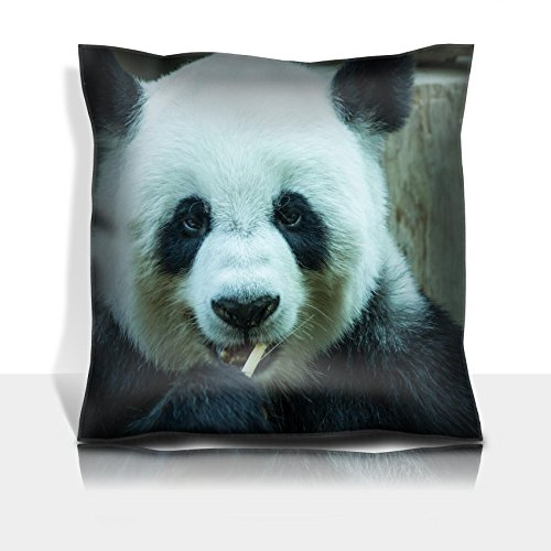 MSD Throw Pillowcase Polyester Satin Comfortable Decorative Soft Pillow Covers Protector sofa 16x16, 1pack IMAGE ID 24949009 giant panda bear eating bamboo for food Chiang Mai Zoo in (Chiang Mai Zoo)