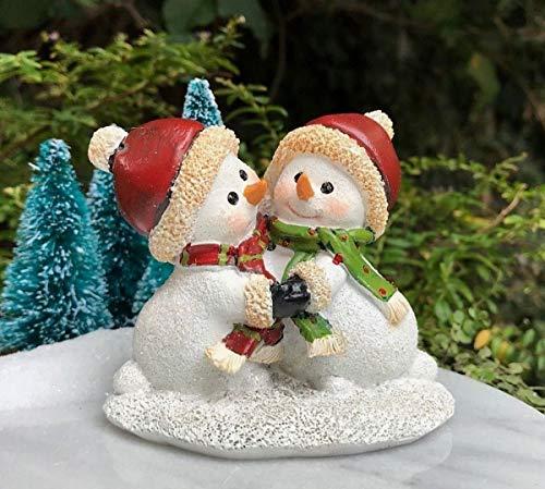 Collection Fairies Dancing (Miniature Fairy Garden Figurine ~ Mini Winter Christmas Snowman Dancing)