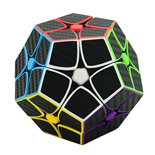 Twister.CK 2x2 Megaminx Speed Cube Magic Cube Brain Teasers Puzzles with Carbon Fiber Sticker (2x2 Megaminx Speed Cube)