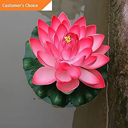 Amazoncom Hebel Artificial Lotus Flower Fake Floating Water Lily