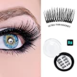 Magnetic Eyelashes ,New Improved 3D Natural Ultralight Fake Eyelashes -2 pair 8pc (2 Pair) (2 Pair)