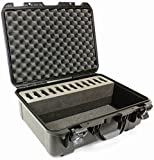 Williams Sound CCS 042 DW Large Digi-Wave Heavy-duty Carry Case (12 slot); Holds up to 12 Digi-Wave DLT transceivers, plus accessories; Dimensions 21-1⁄2'' x 17-1⁄2'' x 8-1⁄2''; Weight 9.5 lbs.