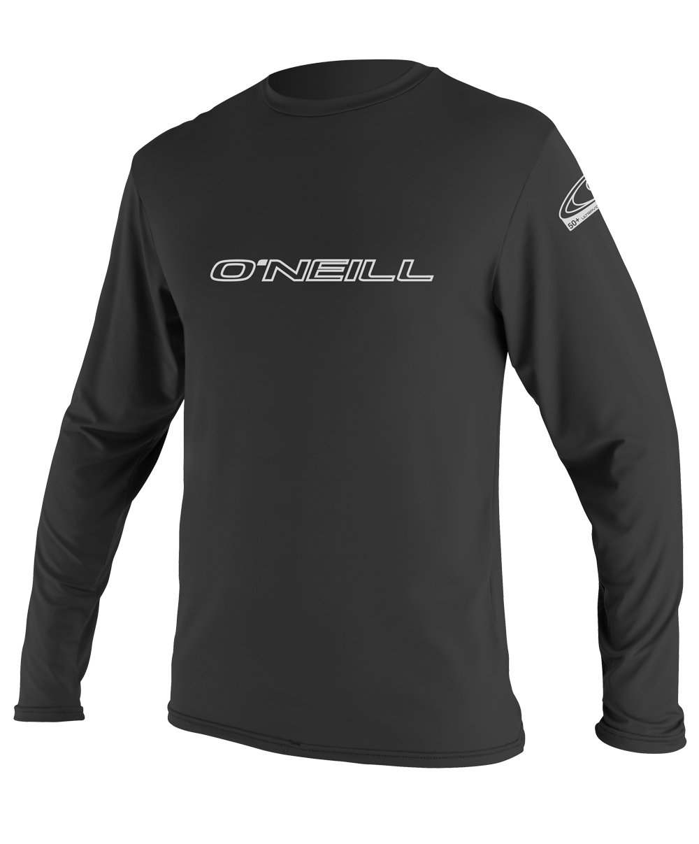 O'Neill Wetsuits Men's Basic Skins UPF 50+ Long Sleeve Sun Shirt, Black, Small by O'Neill Wetsuits