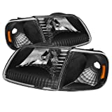 xTune Auto 5070319 Crystal Front Headlight Kit Black/Clear