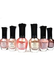 Kleancolor Nail Polish Natural Nude Beige Colors Lot...