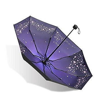 Olici Bolsillo Paraguas Ultra Light Mini Paraguas Sombrilla Protección Solar Proteccion Uv 8 De Hueso Media