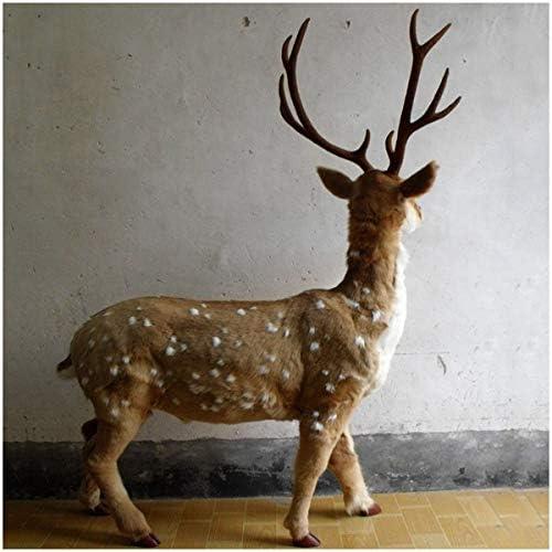 Gesimuleerde Grote Deer Model Levensechte Deer Comfortabele Handcraft Wild Animal Farm Mode Deer Model Home Garden Party Decoration voor Wedding & Partij van de verjaardag