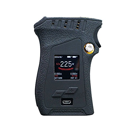 DSC-Mart Texture Case for SMOK MAG 225W TC Box MOD Left Handed Protective Silicone Skin Rubber Cover Sleeve Wrap Gel fits MAG 225W Starter Kit (Black)